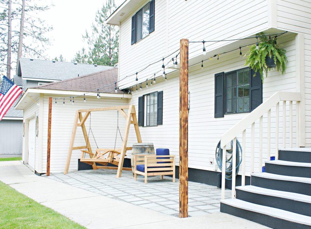Front Porch Paver Patio Reveal!