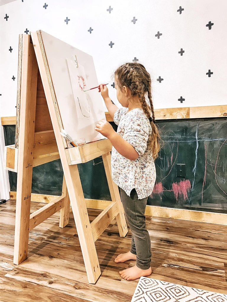 Instead of bringing out the paint and supplies each time your child wants to paint, learn how to make an easel to keep everything organized.