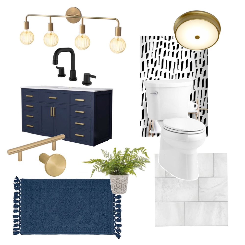 Bathroom Mood Board Inspiration | Updating our 90's Yellow Bathroom