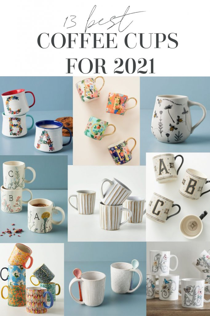 Coffee is the only reason I get out of bed in the mornings. And pouring that amazing coffee into pretty coffee mugs brings me joy!  Here are my favorite mugs so far this year! #coffeemugs #coffee