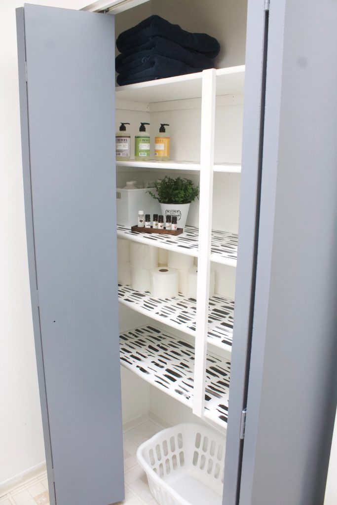 Closets don't have to be dull and ugly. Painting a closet a bright white or other color instantly makes it feel cleaner, it's easier to see your items, and with the doors constantly open (at least in our house with the kids) it might as well go with the rest of the room decor! #closetrefresh #closetorganization #closetideas