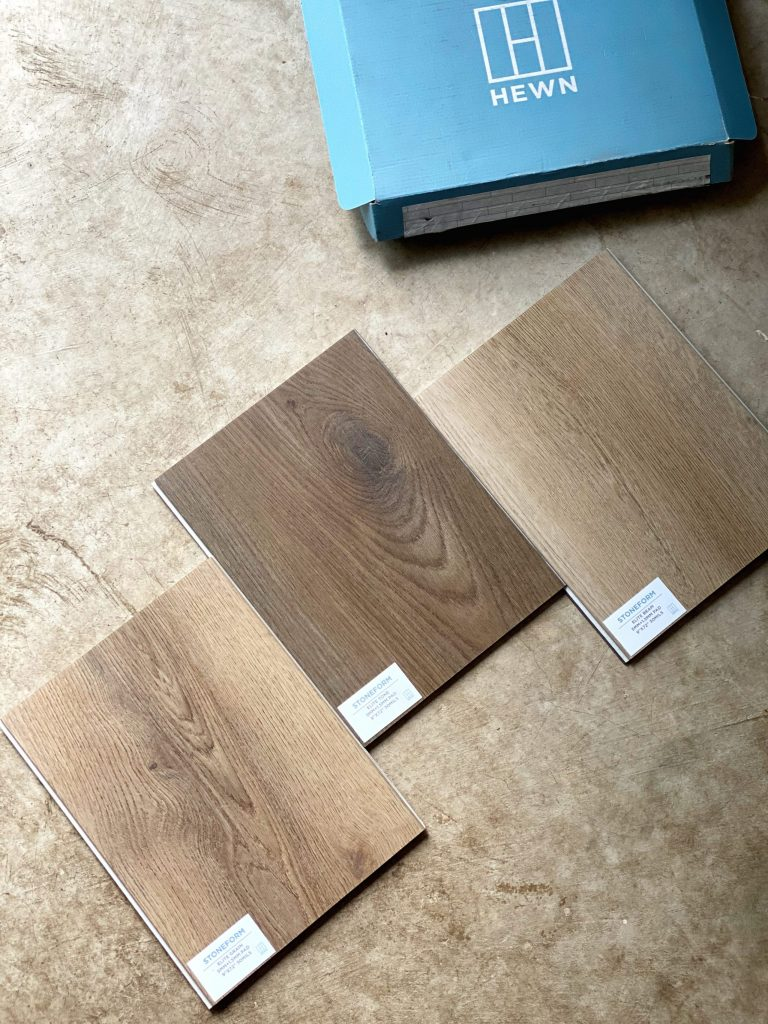 Hewn flooring was the best option for our high-traffic home. With 2 kids, 3 cats, and a huge dog, we needed something beautiful and durable. #flooring #HEWN