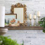 Slate-ish Wall Armor Fireplace Makeover