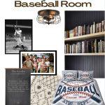 Baseball Room Mood Board | Sandlot Decor