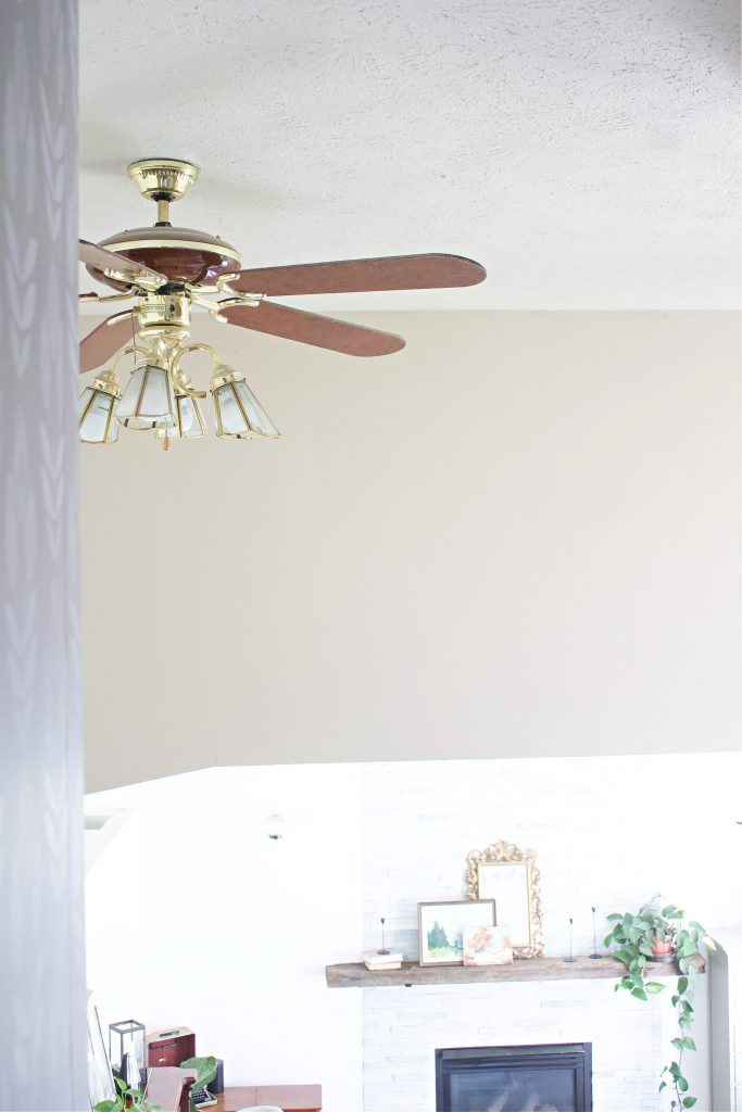 This ain't your mamas ceiling fan. Our entryway feel was transformed from a 1990's gold fan, to a sleek, classy matte black. And I'm in love.
