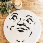 Man On The Moon Wood Round DIY with FREE PDF Stencil