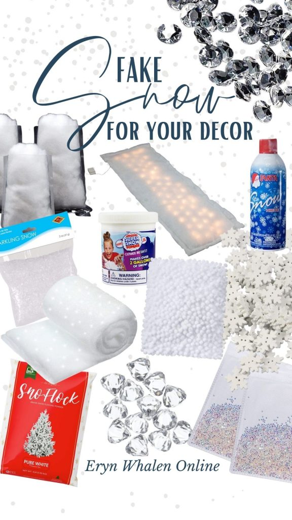 Fake snow. Let's talk about it! From messy to minimal, here's the full list of fake snow that you can add to cozy your home for the holidays.